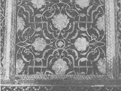 Фрагмент панно из дворца Худоярхана в Коканде. 1873.