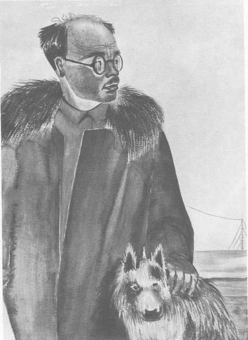 Ф. Решетников. Профессор Г. JI. Ушаков начальник Северной Земли. Акварель. 1932