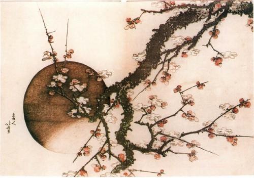 Цветущая слива и луна. Около 1803