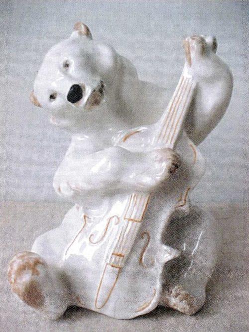 Медведь с контрабасом, 15 см по сюжету басни Крылова «Квартет»