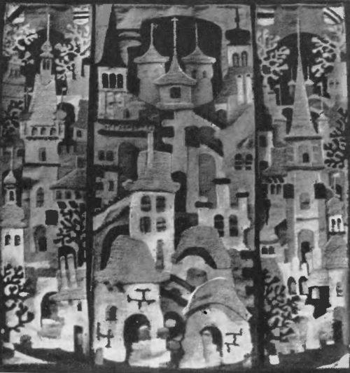 В. Аронов. Гобелен. архитектура старой Чехословакии