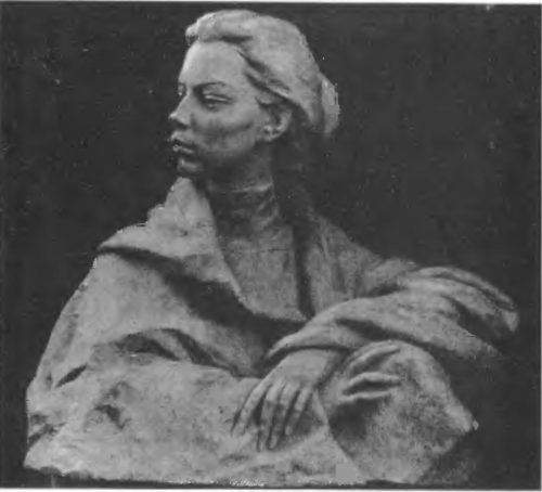 Е. Белашова. Н. К. Крупская. Гипс. 1959.