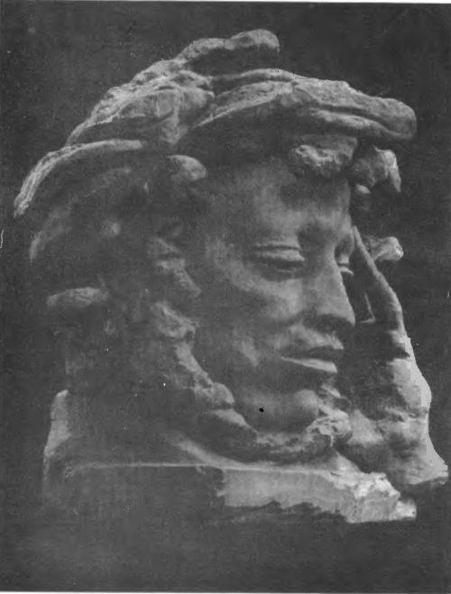 Е. Белашова. Пушкин. Гипс. 1962.