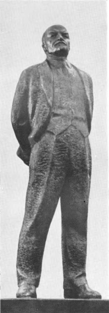 Г. Иокубонис арх. В. Чеканаускас. Памятник В.И. Ленину на площади Ильича в Москве. Бронза, цемент, 1967