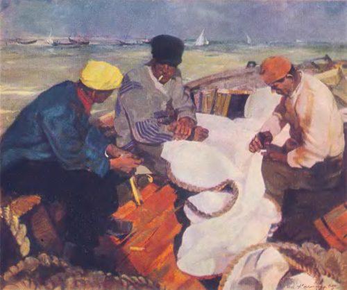Э. Калныныш. Новые паруса. Масло. 1945