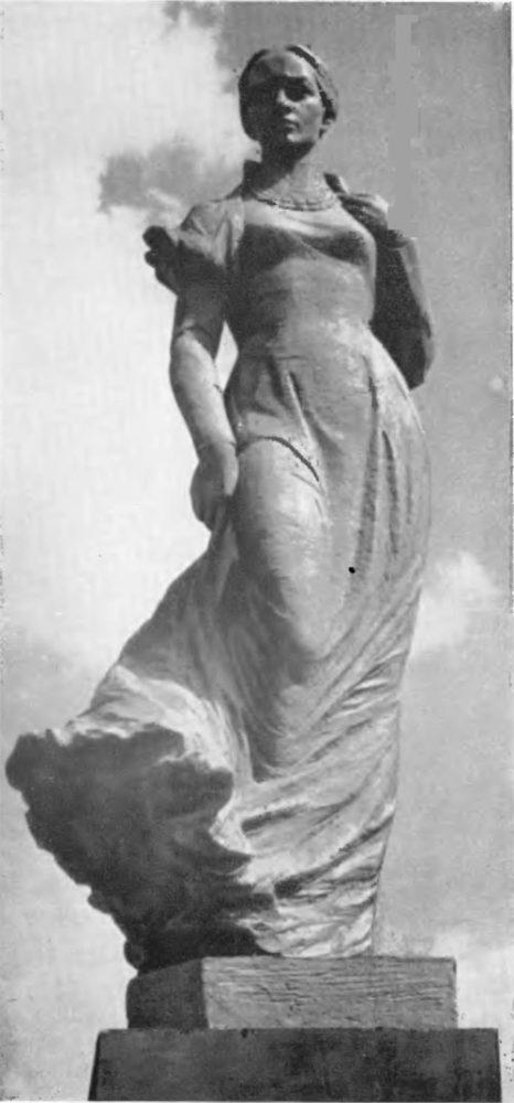 Г. Кальченко. Памятник Лесе украинке для Киева. Рабочая модель, бронза, 1971-1972