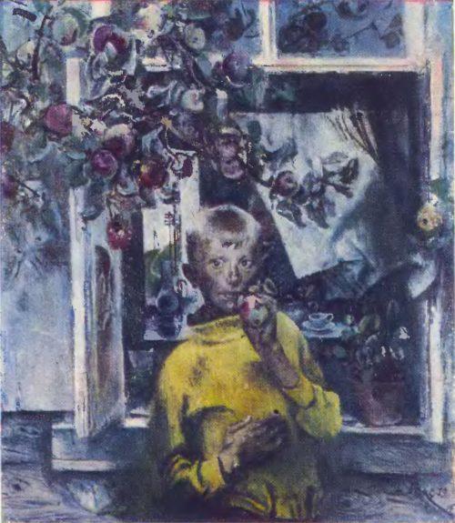 Е. Моисеенко. Сережа. Масло. 1973.