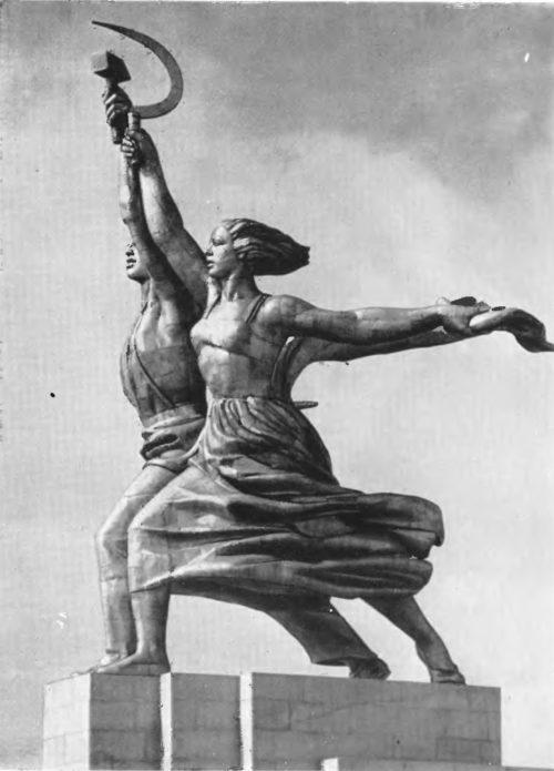 В. Мухина. Рабочий и колхозница. Нержав сталь. 1937