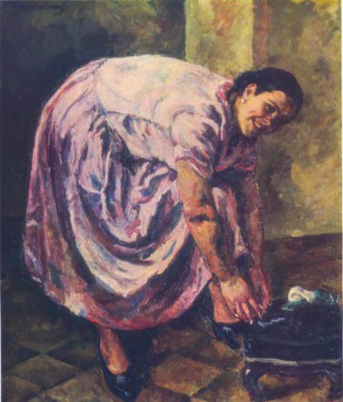 П П Кончаловский Портрет Н. П. Кончаловской. Масло 1925