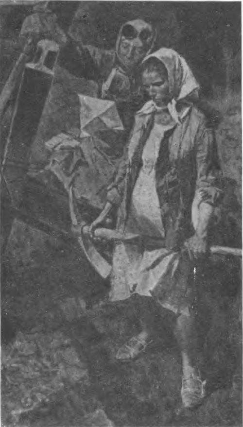 В. Сафронов. Солдатское письмо. 1970. Масло.