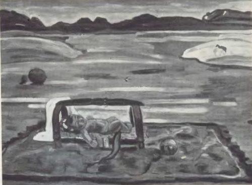 Р. Сахи под небом родины. Масло. 1970