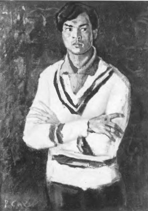 Р. Сахи. Портрет О. Сулейманова Масло. 1963.