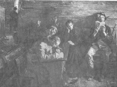 А. Ткачев, С. Ткачев. Между боями. Масло. 1958—1960