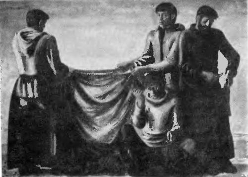 О. Филатчев. Рыбаки Приморья. Масло. 1975.
