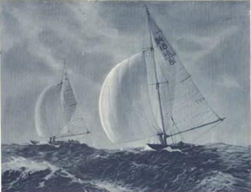Э. Калныныш. VII балтийская регата. Масло. 1954