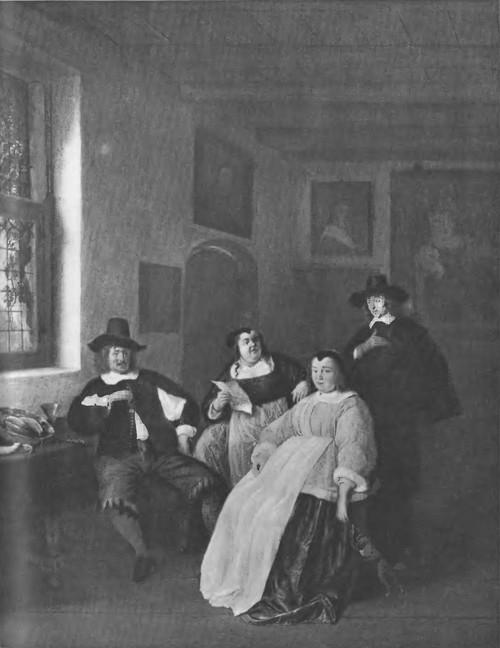 Семейный портрет. Дерево, масло. 63X51. Гаага. Музей Бредиуса