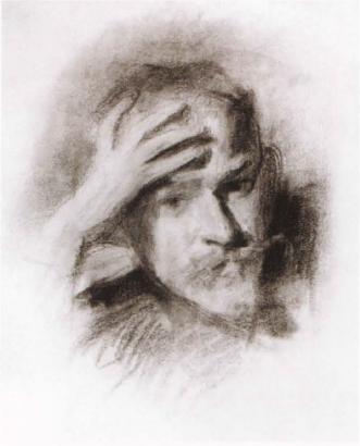 Автопортрет. 1904-1905. Рисунок Государственная Третьяковская галерея , Москва