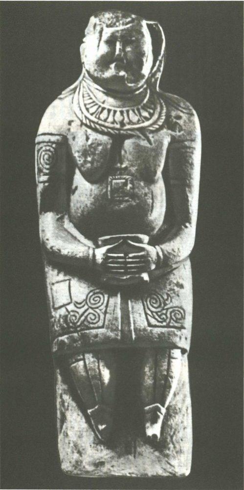 Богатая половчанка. Мел. XII—XIII вв. Высота 2,1 м.