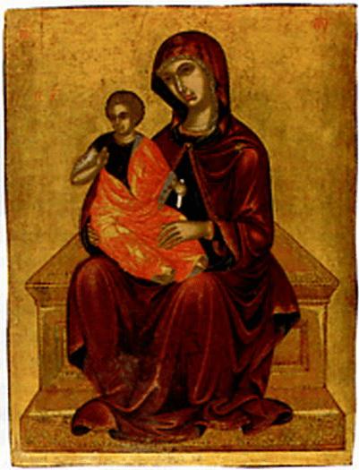 Богоматерь с мледенцем. XV век, Крит. Из собрания Л.К. Зубалова.