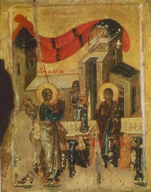 Византийская икона Благовещение