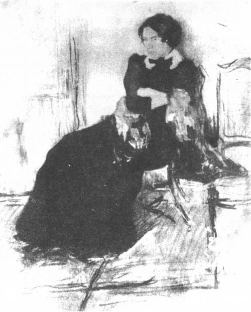 В. В. Маяковский. Портрет сестры. Акварель. 1911.