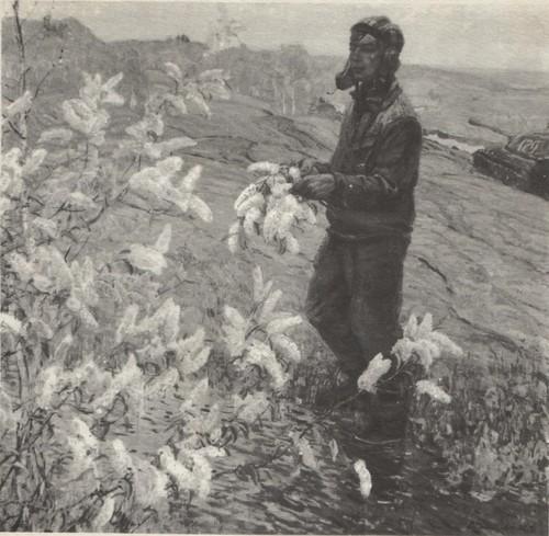В. Дмитриевский. Черемуха цветет. Масло. 1971.