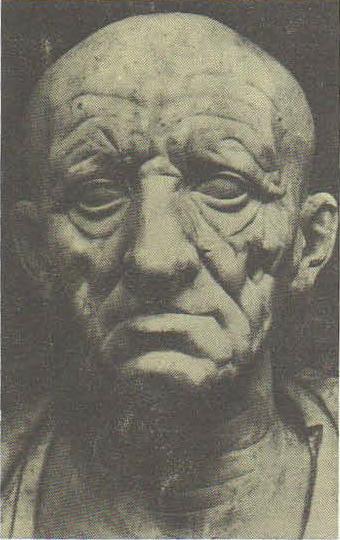 Голова старого римлянина. Мрамор. 1 в. до н. э. Рим. Музей Торлониа.