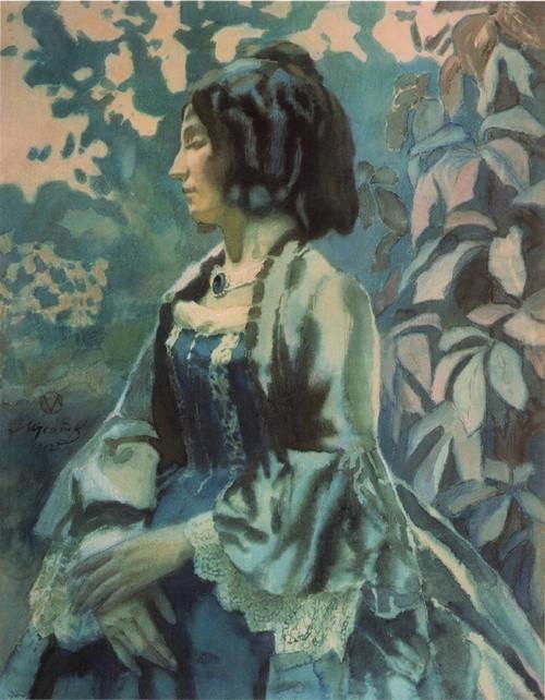 Дама в голубом. 1902 Государственная Третьяковская галерея, Москва