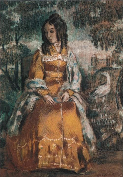 Дама у гобелена. 1903 Государственная Третьяковская галерея, Москва