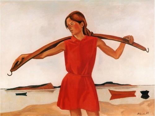 Девушка с коромыслом. 1984