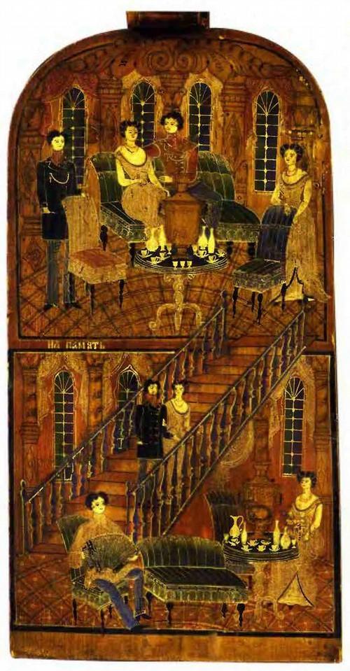 Игнатий Климентьевич Лебедев имел выучку иконописца.