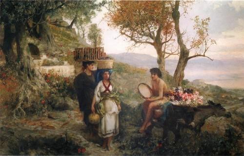 Из античной жизни. По дороге на праздник урожая . 1890-е Национальный художественный музей Республики Саха (Якутия), Якутск