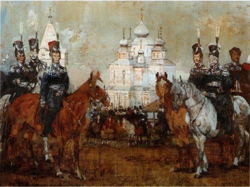 Иловайские. Из серии Донцы 1812 года. 1987