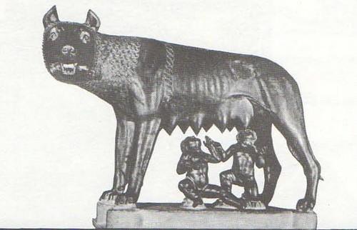 Капитолийская волчица. Бронза. Начало V в. до н. э. Рим. Палаццо Консерватори