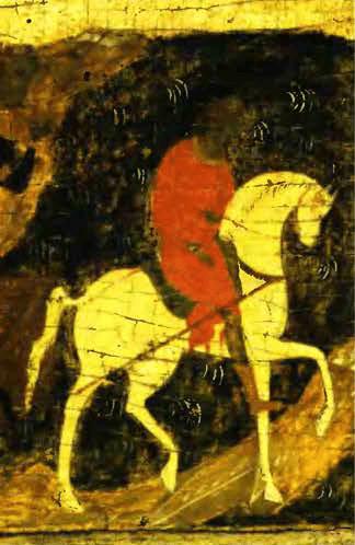 Клеймо иконы Дмитрий Солунский С житием XV век