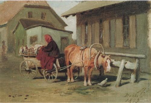 Крестьянская повозка в Дуббельне . 1873