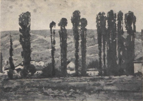Куприн. Тополя. Масло. 1927.