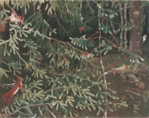 Лесные обитатели . 1910