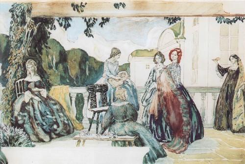 Летняя мелодия. Эскиз панно. 1904-1905