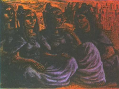 Мириам Мизиан. Женщины юга. Темпера. 1964. 83,8 X 115,9.