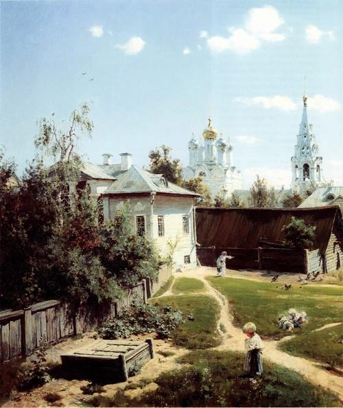 Московский дворик . 1878