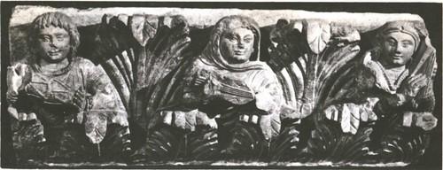 Музыканты. часть Айртамского фриза. Средняя Азия. Известняк, II век.