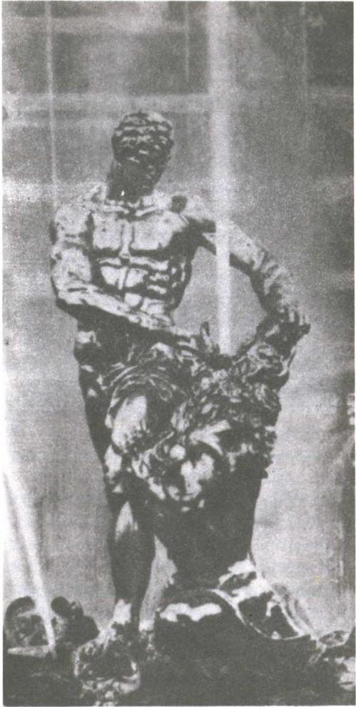 М. Козловский. самсон раздирающий пасть льва. 1802