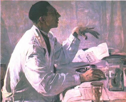 М. Нестеров. Портрет хирурга С. Юдина. Масло. 1935.