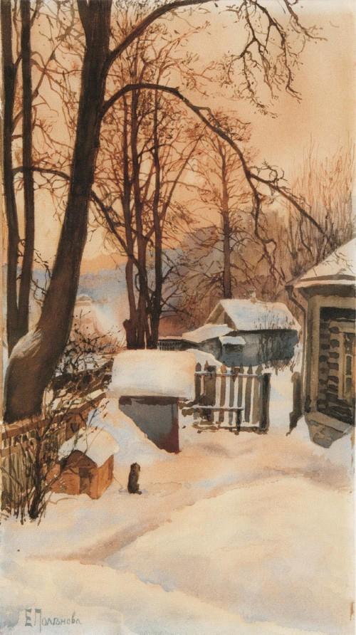 На дворе зимой. 1886