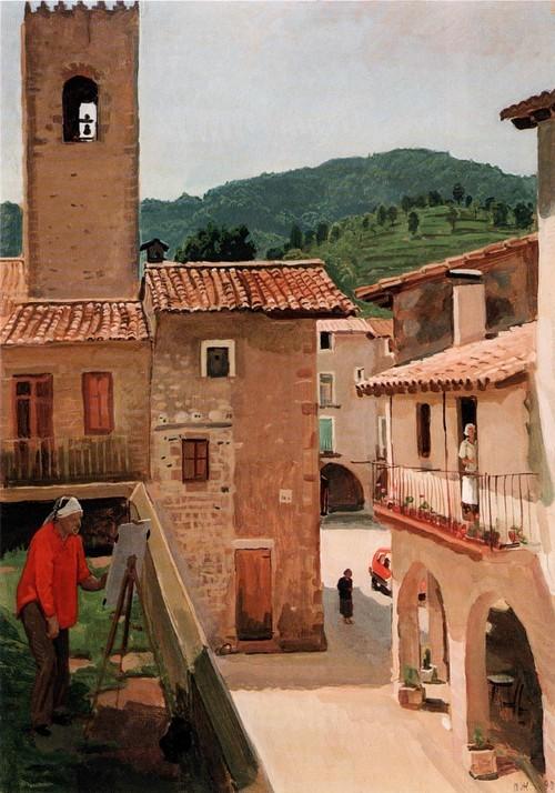 Нина в Сан-Пау. Испания. 1990