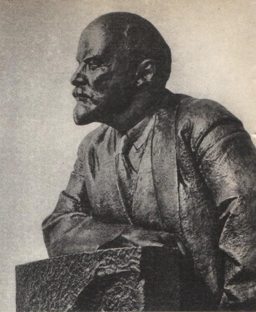 Н. Андреев. В. И. Ленин. Мрамор. 1932.