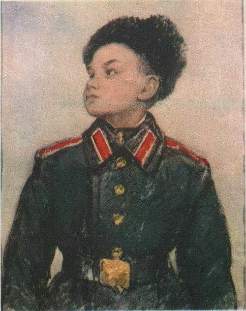 Н. Жуков. Суворовец. Акварель. 1961