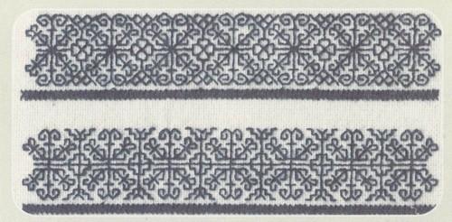 Образец вышивки швами роспись