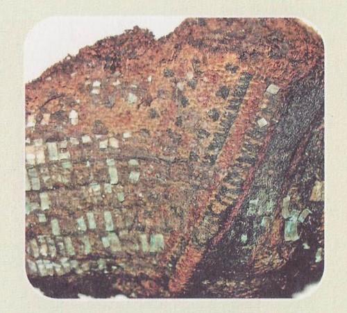 Образец отделки вышивкой обмоток ног. IX-X Примокшанье
